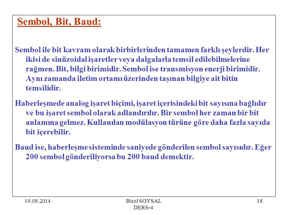 Sembol, Bit, Baud: