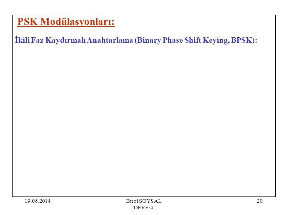 PSK Modülasyonları: İkili Faz Kaydırmalı Anahtarlama (Binary Phase Shift Keying, BPSK): 05.04.2017.