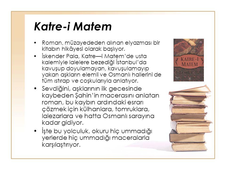 Katre-i Matem Roman, müzayededen alınan elyazması bir kitabın hikâyesi olarak başlıyor.