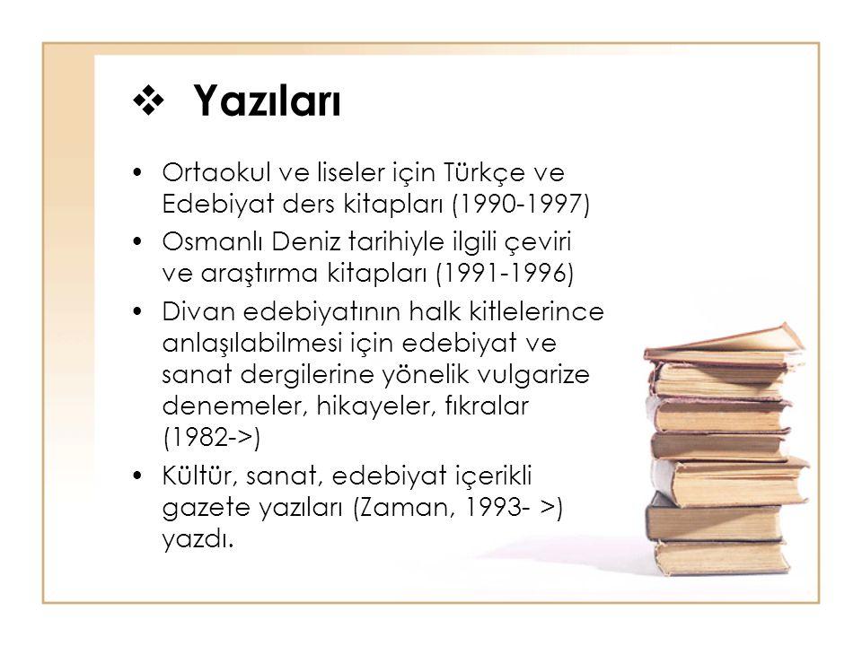 Yazıları Ortaokul ve liseler için Türkçe ve Edebiyat ders kitapları (1990-1997)