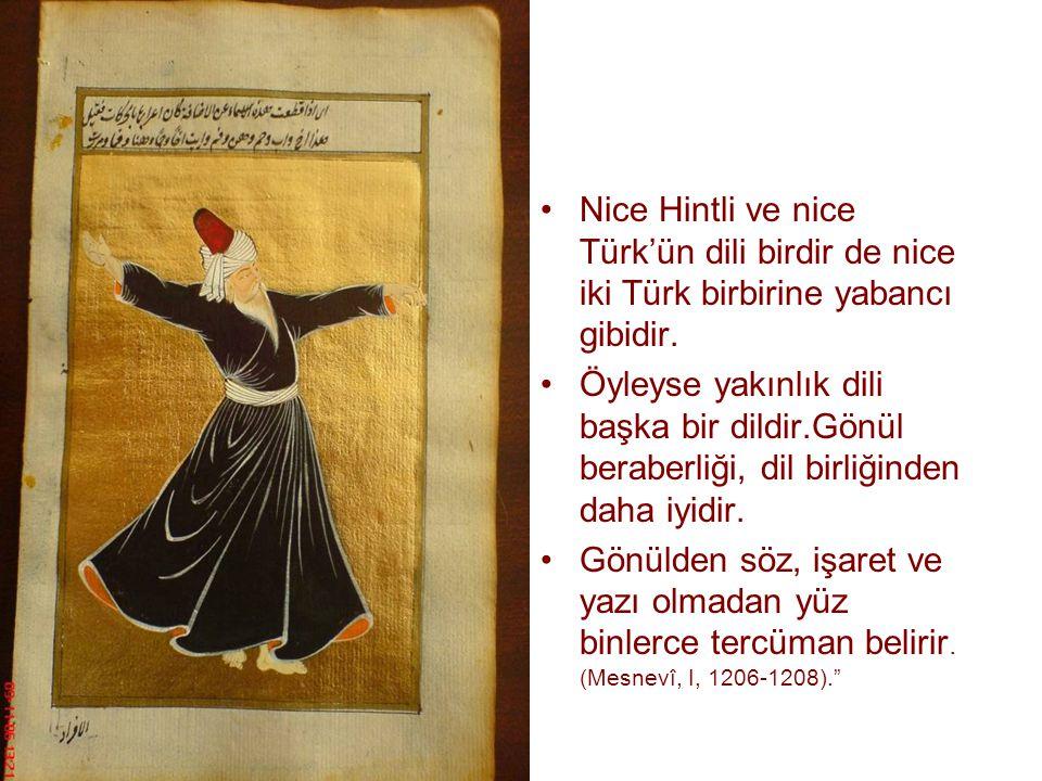 Nice Hintli ve nice Türk'ün dili birdir de nice iki Türk birbirine yabancı gibidir.