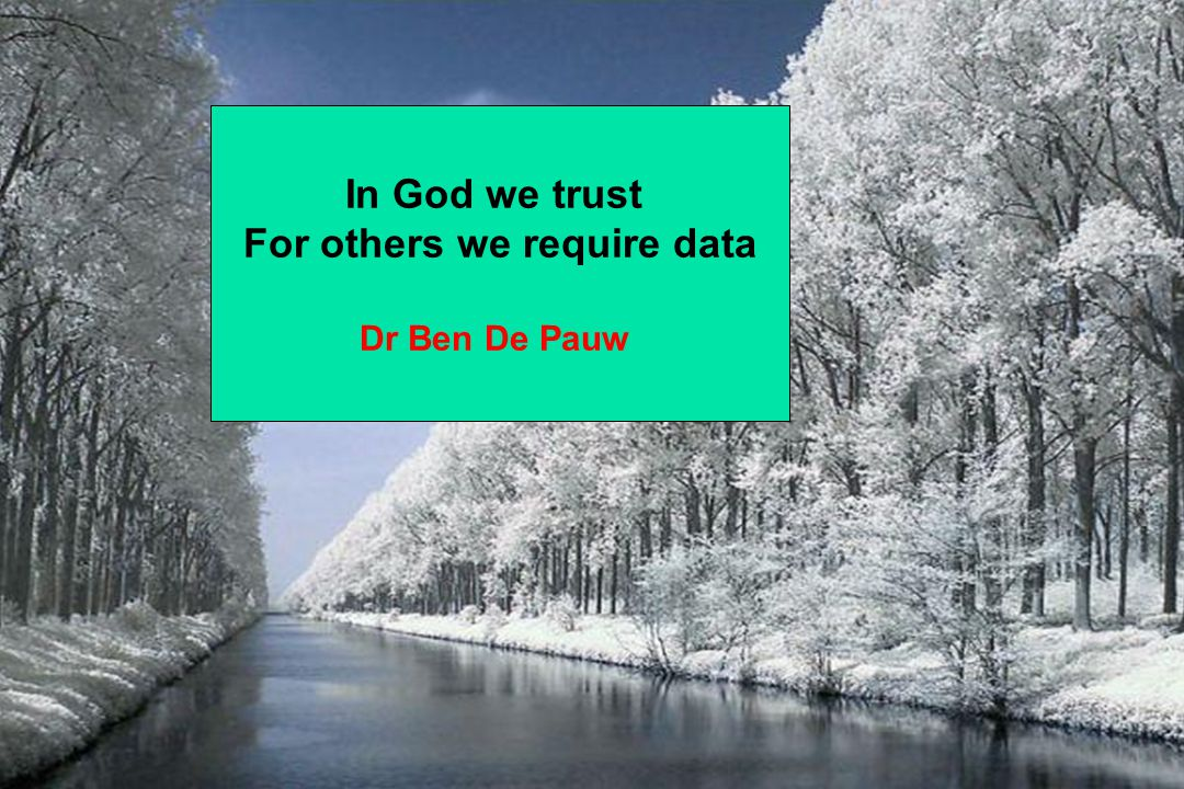 For others we require data