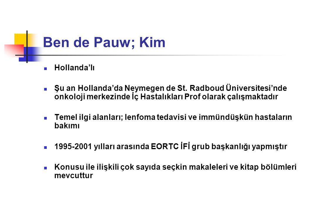 Ben de Pauw; Kim Hollanda'lı
