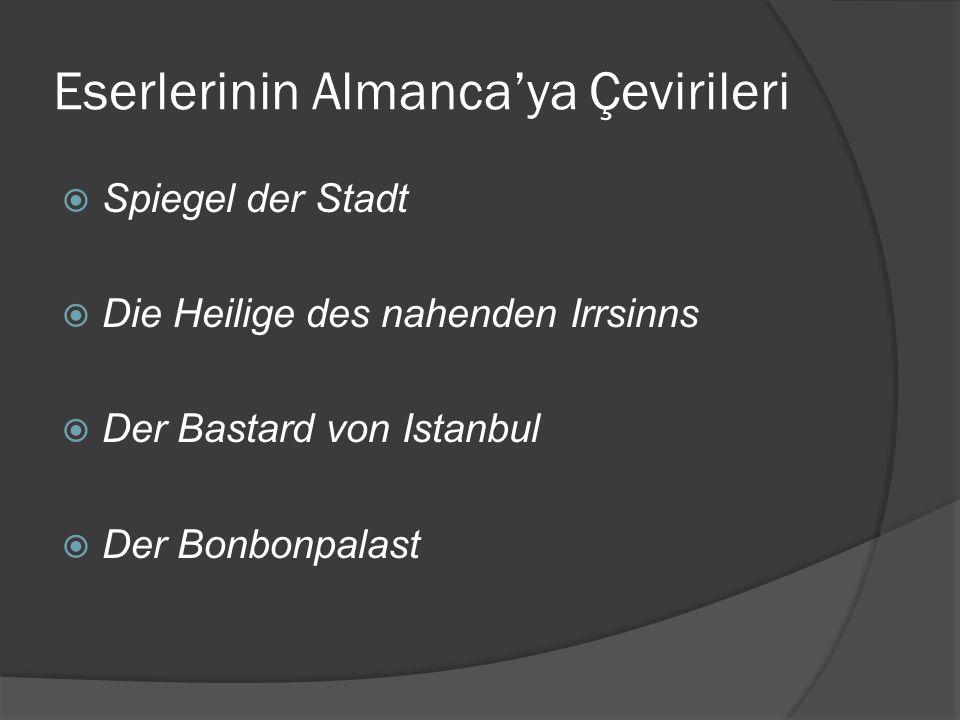 Eserlerinin Almanca'ya Çevirileri
