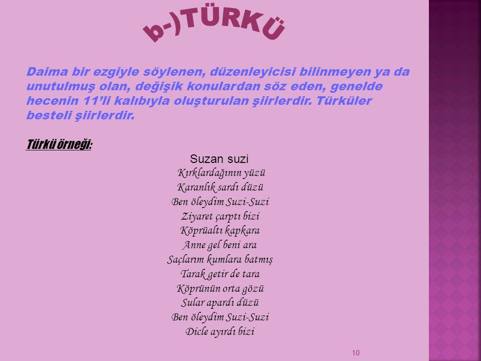 b-)TÜRKÜ