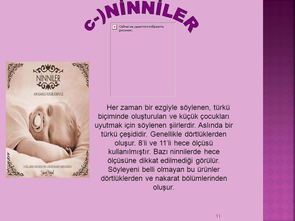 c-)NİNNİLER