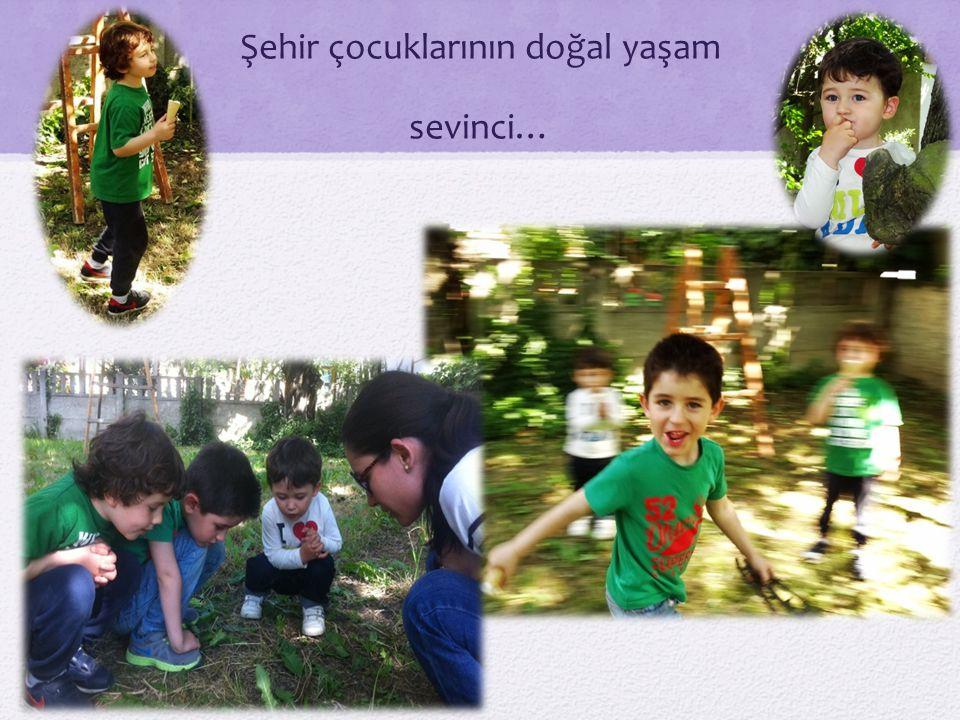 Şehir çocuklarının doğal yaşam sevinci…