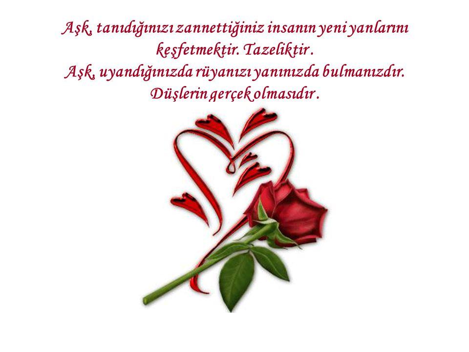 Aşk, tanıdığınızı zannettiğiniz insanın yeni yanlarını keşfetmektir