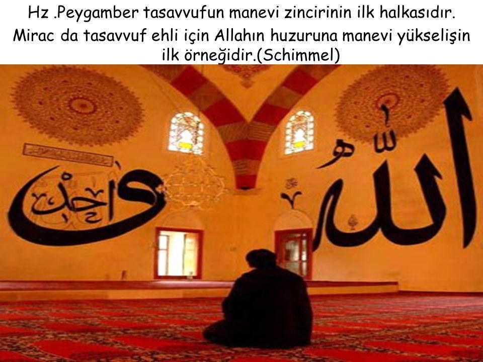 Hz .Peygamber tasavvufun manevi zincirinin ilk halkasıdır.