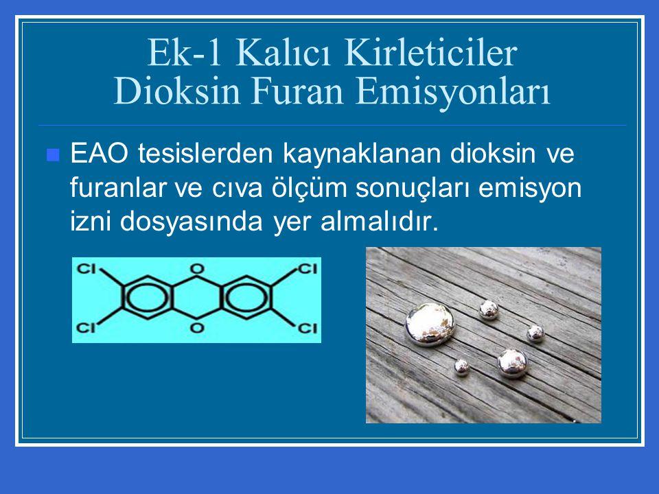 Ek-1 Kalıcı Kirleticiler Dioksin Furan Emisyonları