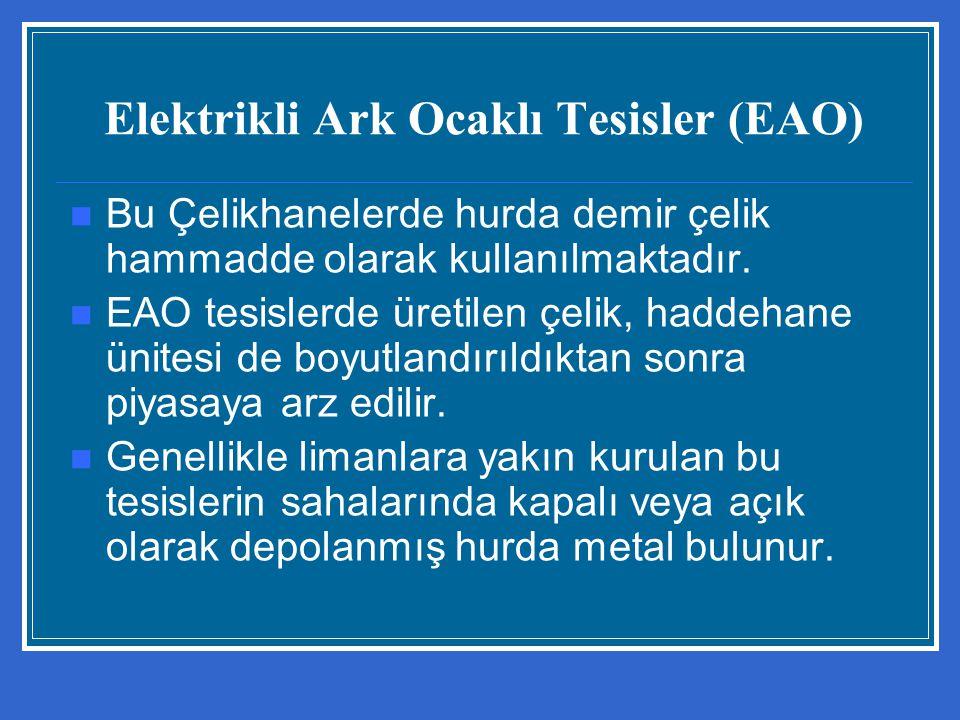 Elektrikli Ark Ocaklı Tesisler (EAO)