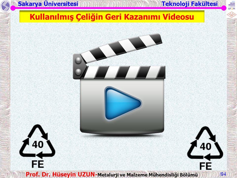 Kullanılmış Çeliğin Geri Kazanımı Videosu