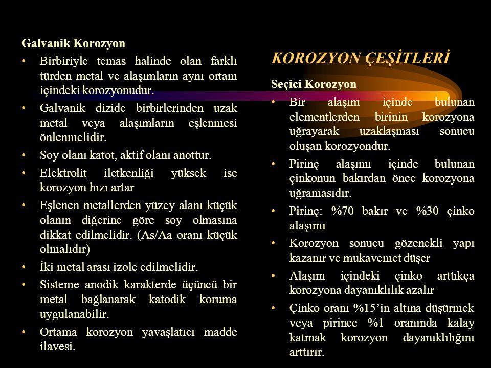 KOROZYON ÇEŞİTLERİ Galvanik Korozyon