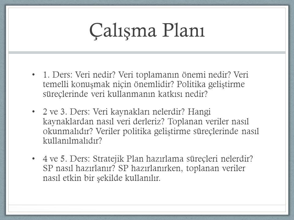 Çalışma Planı
