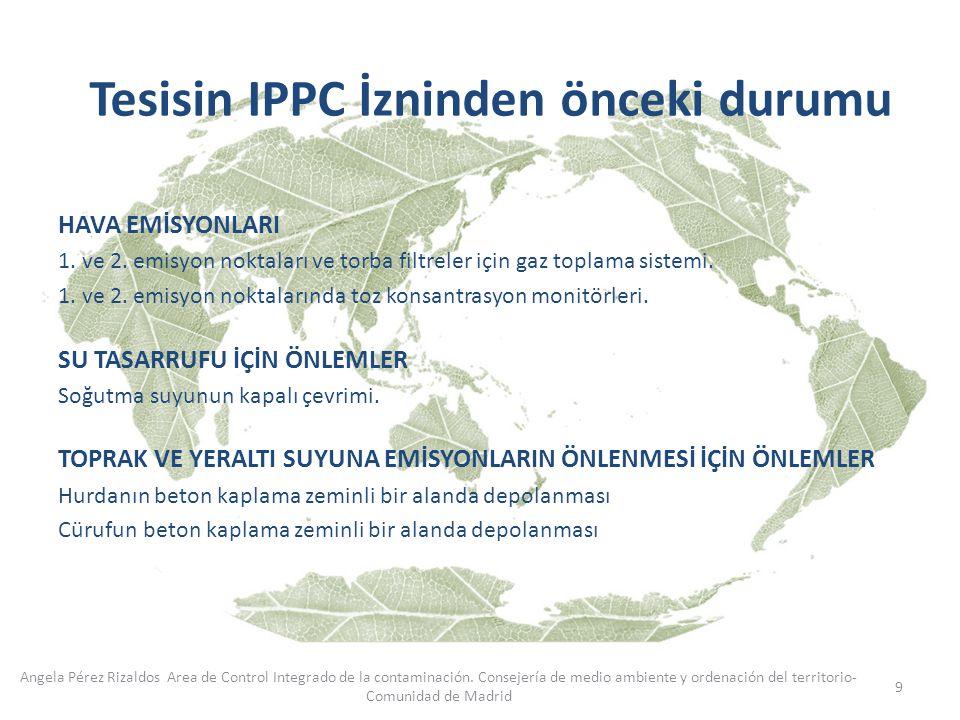 Tesisin IPPC İzninden önceki durumu