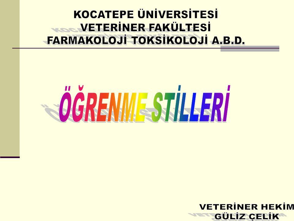 KOCATEPE ÜNİVERSİTESİ FARMAKOLOJİ TOKSİKOLOJİ A.B.D.