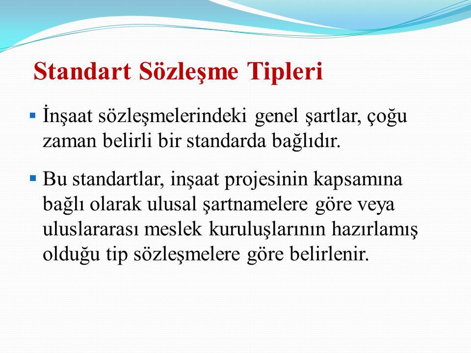 Standart Sözleşme Tipleri