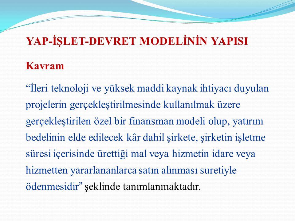 YAP-İŞLET-DEVRET MODELİNİN YAPISI