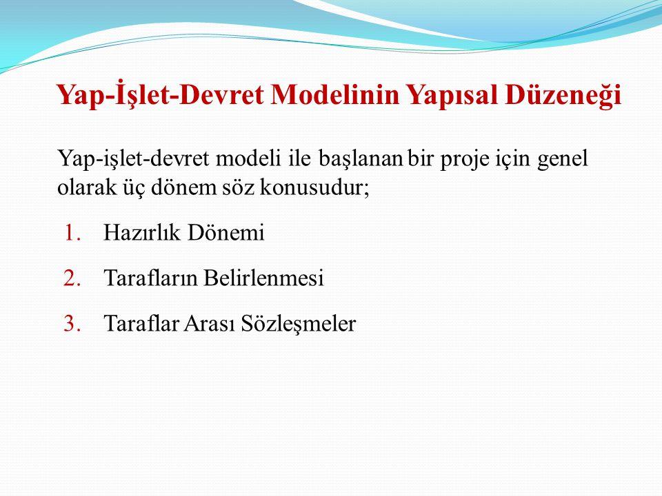 Yap-İşlet-Devret Modelinin Yapısal Düzeneği