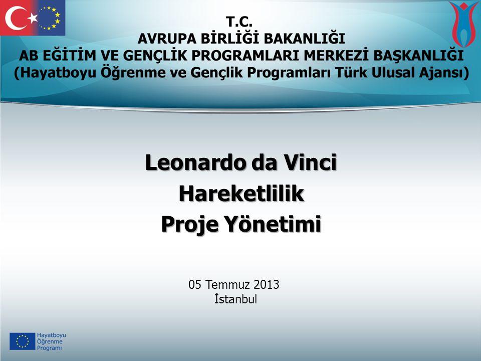 Leonardo da Vinci Hareketlilik Proje Yönetimi