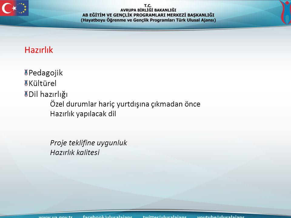 Hazırlık Pedagojik Kültürel Dil hazırlığı