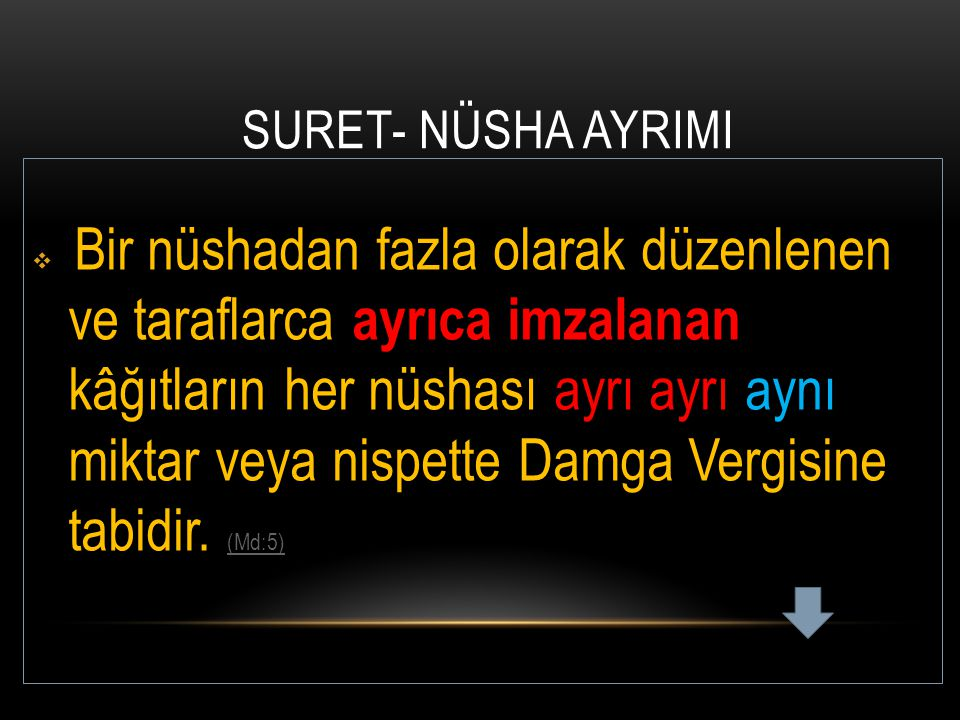 SURET- NÜSHA AYRIMI