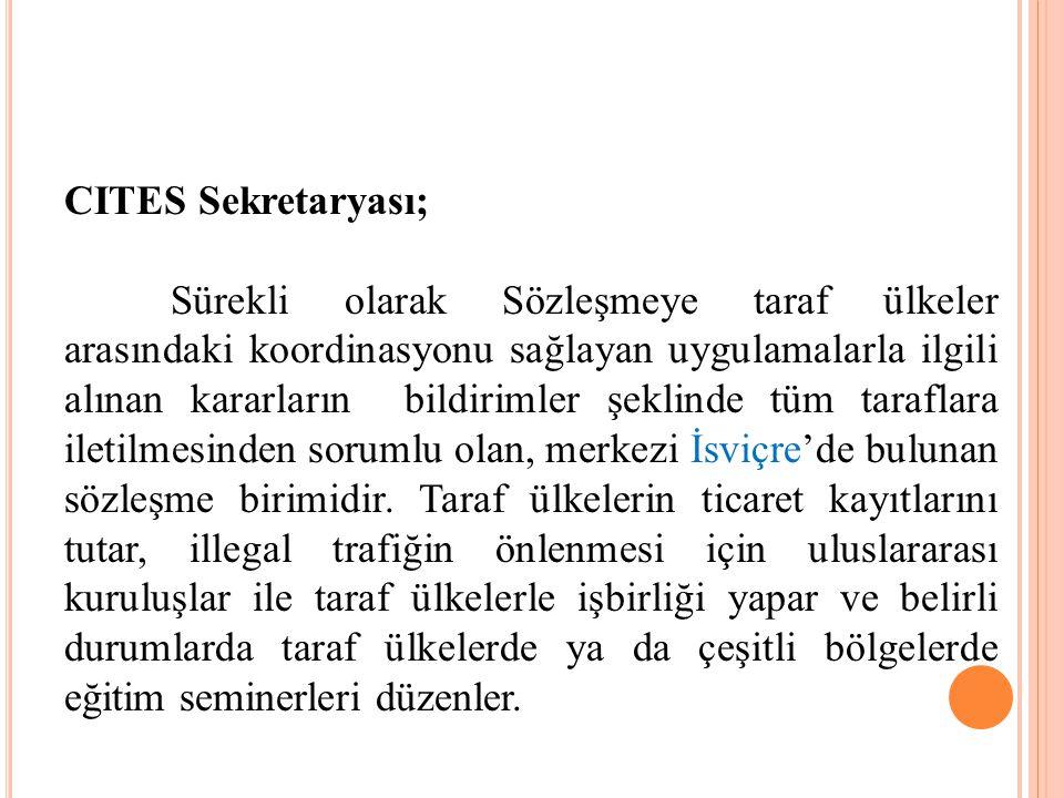 CITES Sekretaryası;