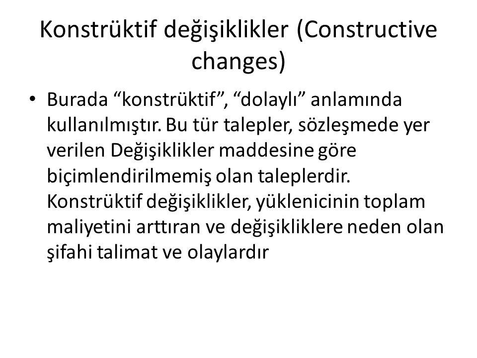 Konstrüktif değişiklikler (Constructive changes)