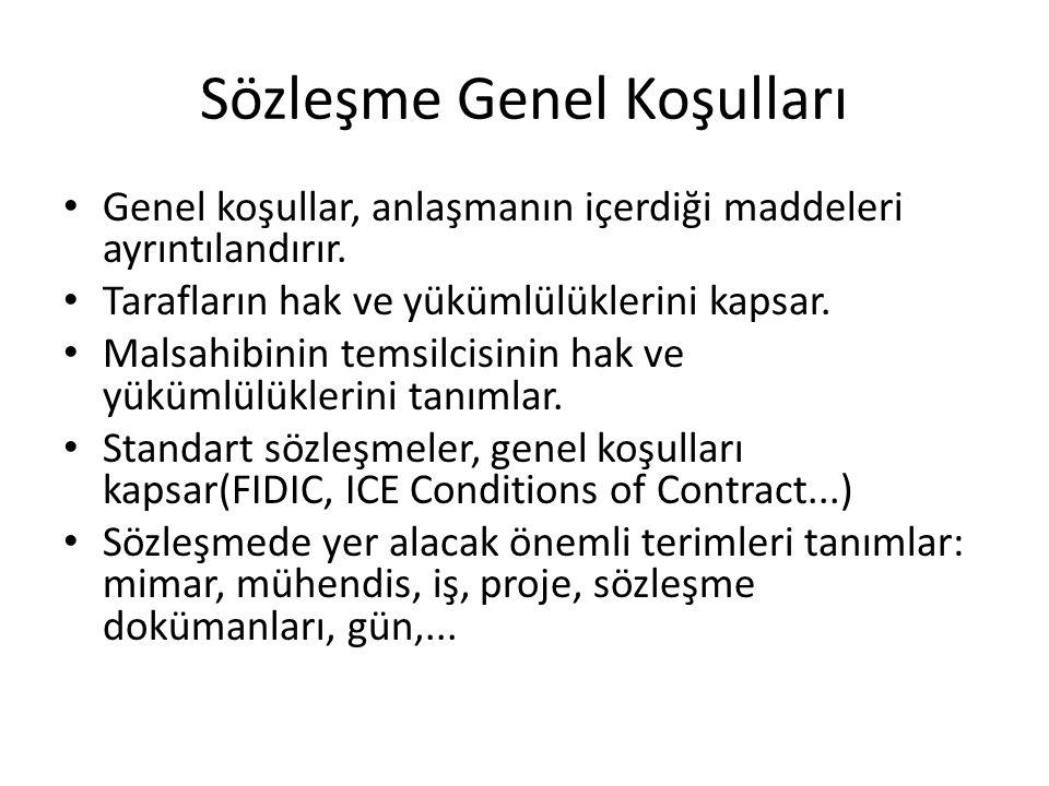Sözleşme Genel Koşulları