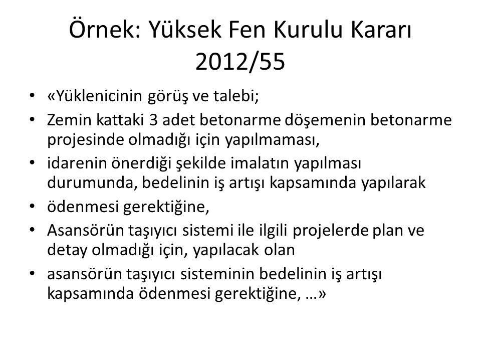 Örnek: Yüksek Fen Kurulu Kararı 2012/55