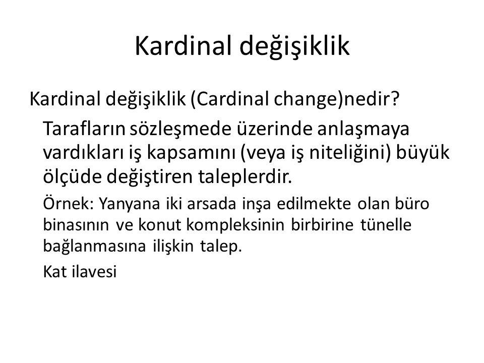 Kardinal değişiklik Kardinal değişiklik (Cardinal change)nedir