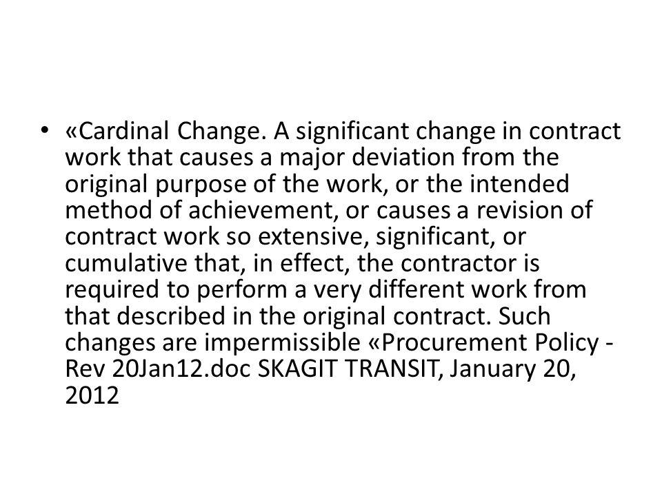 «Cardinal Change.