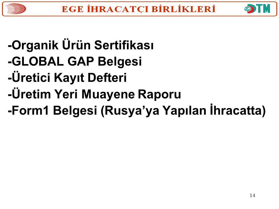 -Organik Ürün Sertifikası