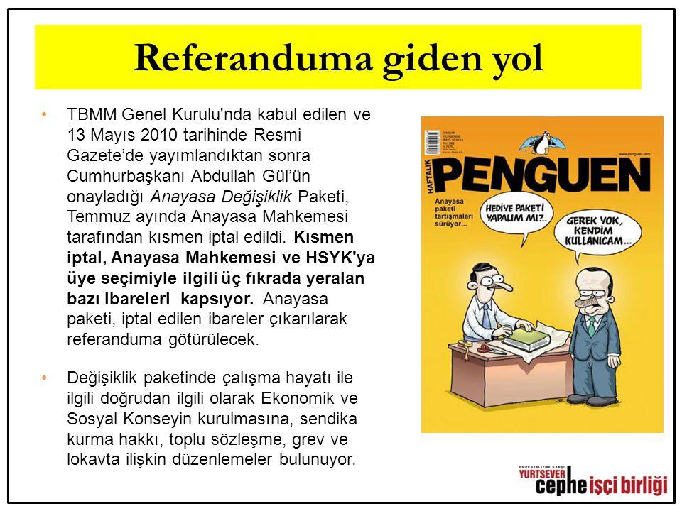 Referanduma giden yol