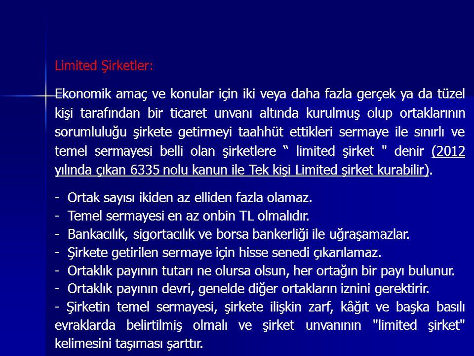 Limited Şirketler: