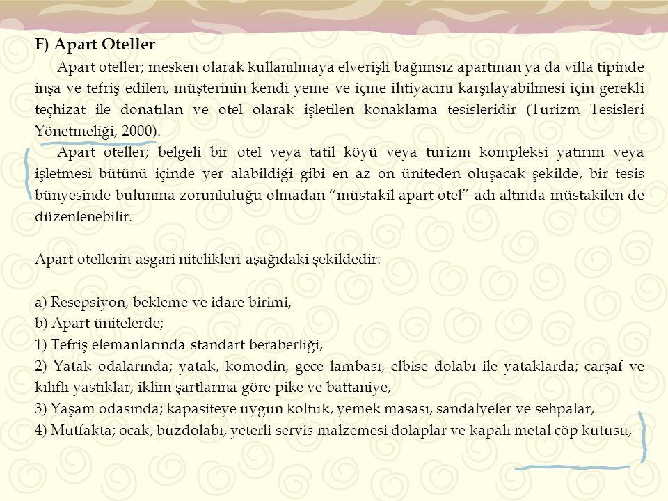 F) Apart Oteller