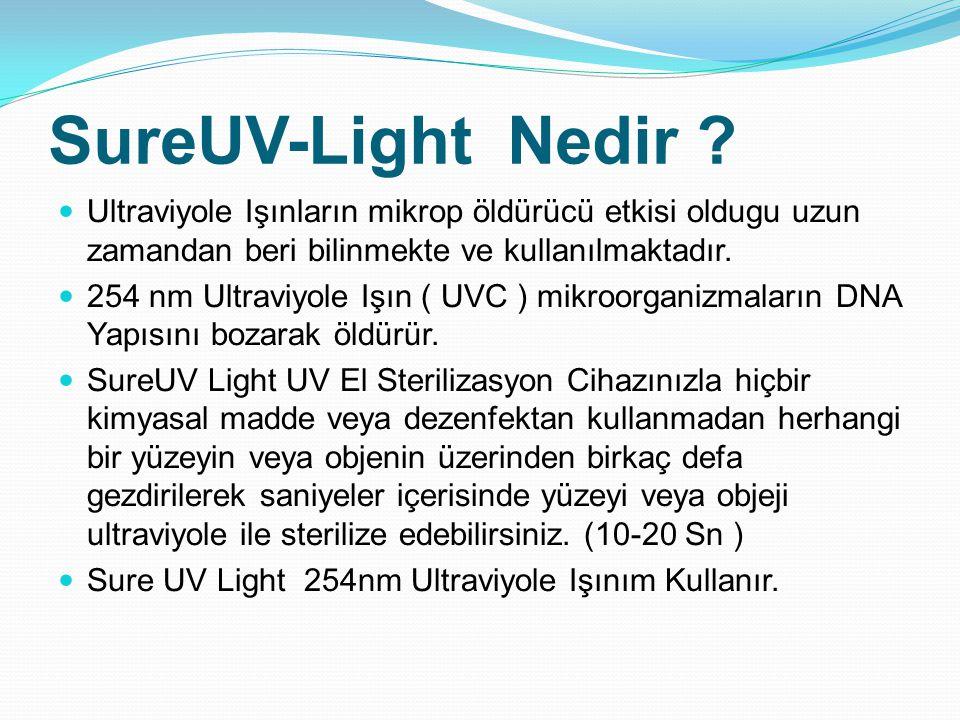 SureUV-Light Nedir Ultraviyole Işınların mikrop öldürücü etkisi oldugu uzun zamandan beri bilinmekte ve kullanılmaktadır.
