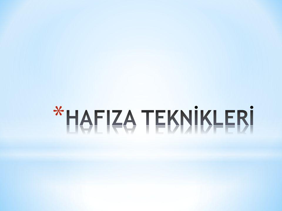 HAFIZA TEKNİKLERİ