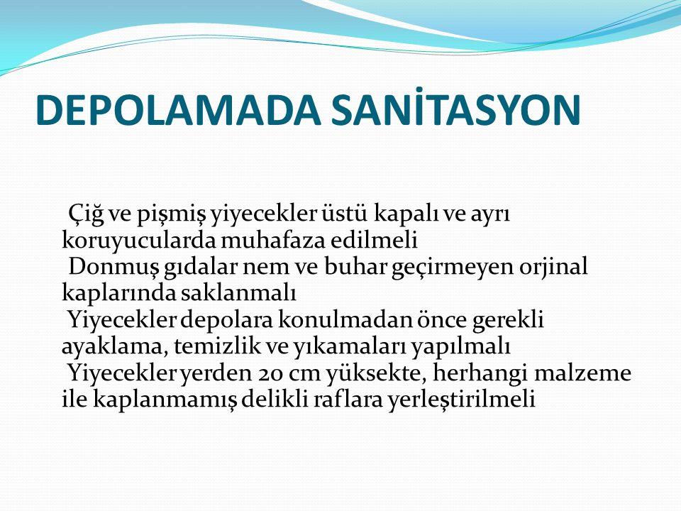 DEPOLAMADA SANİTASYON