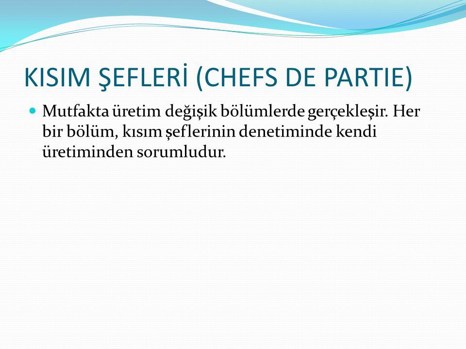 KISIM ŞEFLERİ (CHEFS DE PARTIE)