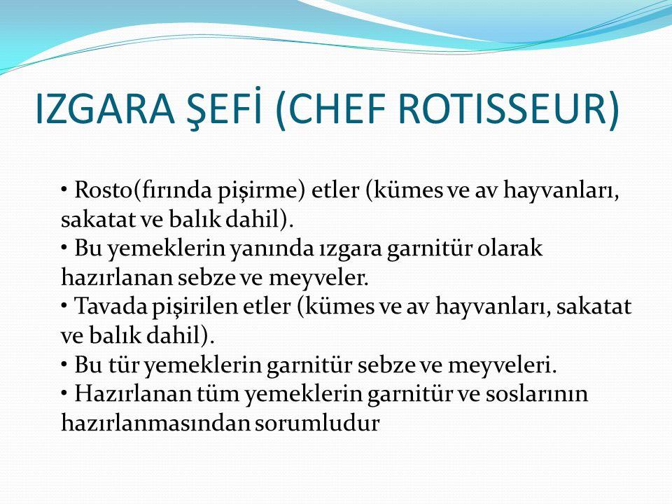 IZGARA ŞEFİ (CHEF ROTISSEUR)