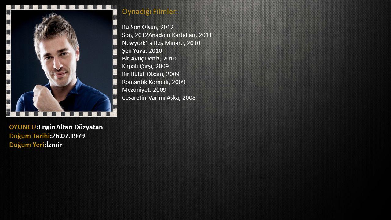 Oynadığı Filmler: Bu Son Olsun, 2012