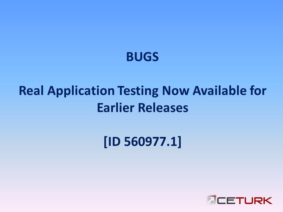 Real Application Testing Now Available for Earlier Releases