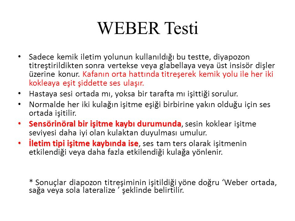 WEBER Testi