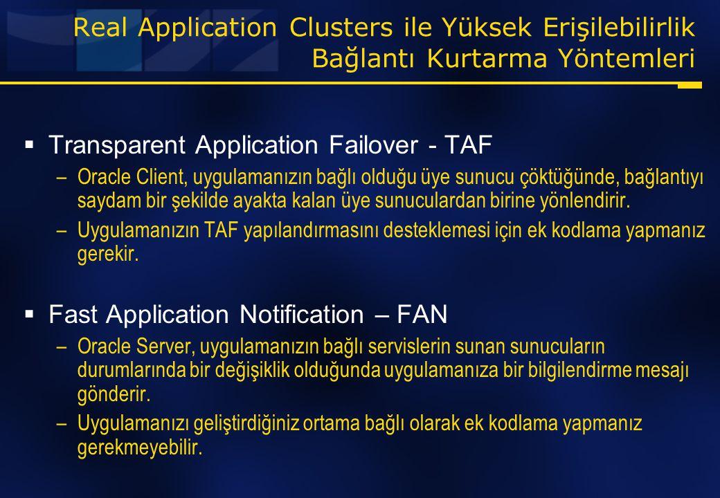 Transparent Application Failover - TAF