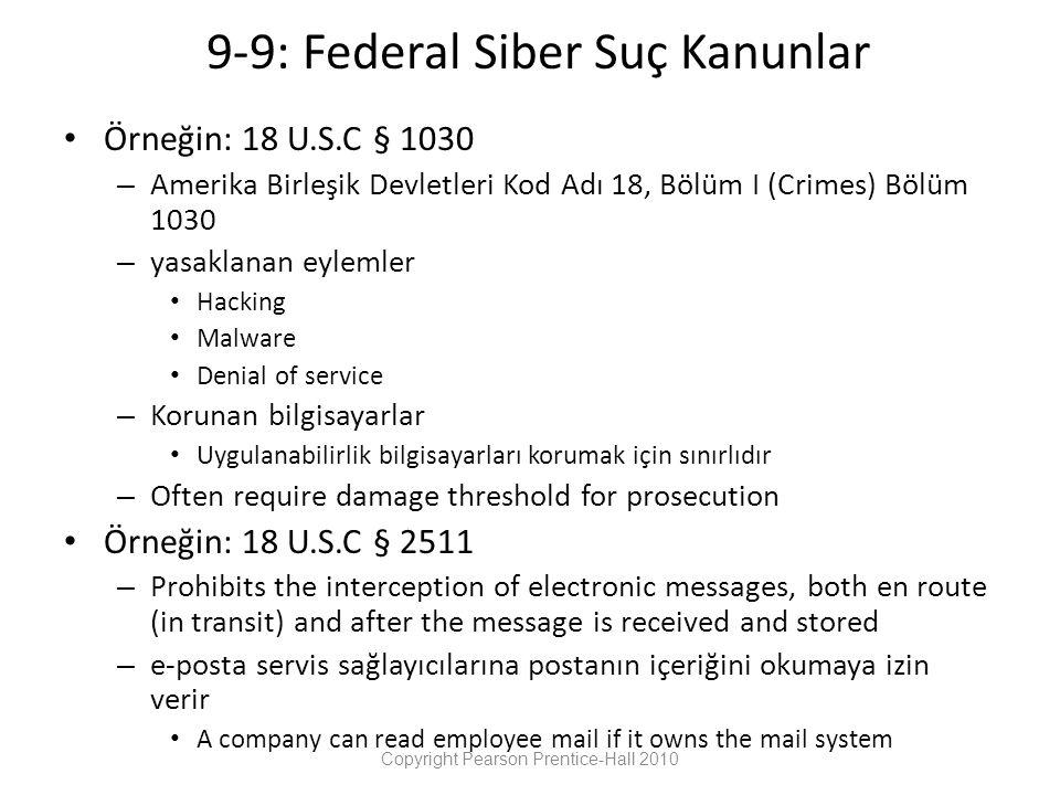 9-9: Federal Siber Suç Kanunlar