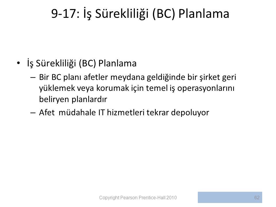 9-17: İş Sürekliliği (BC) Planlama