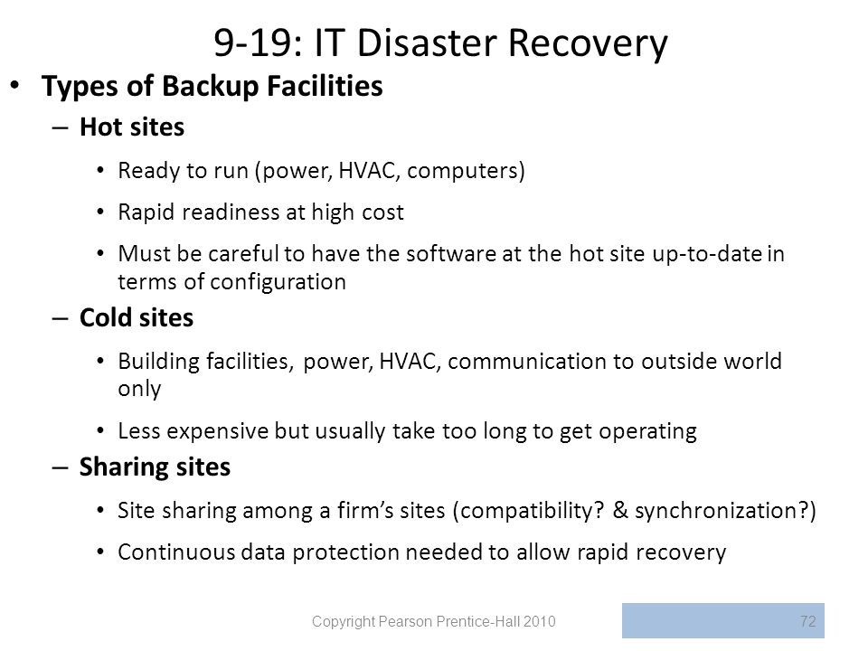 9-19: IT Disaster Recovery