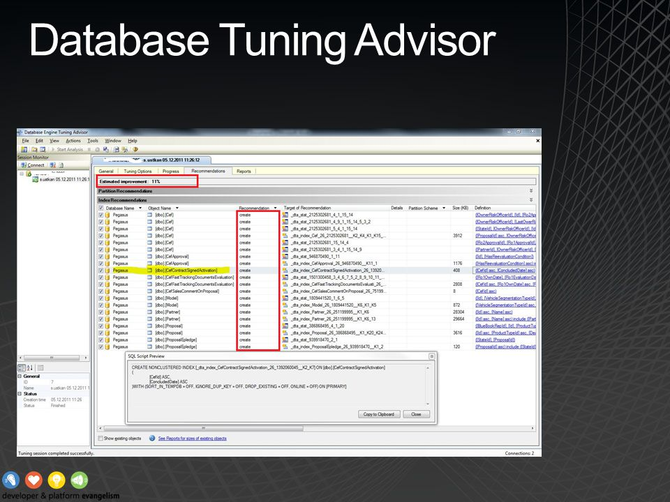 Database Tuning Advisor