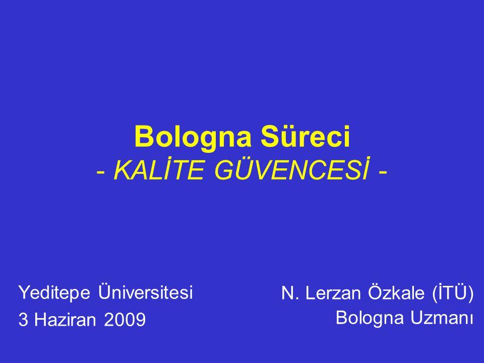 Bologna Süreci - KALİTE GÜVENCESİ -